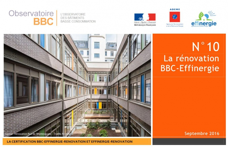 2016 - La rénovation  BBC - Effinergie
