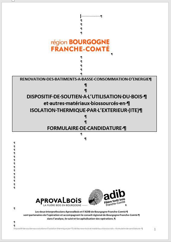 FRANCHECOMTE Dispositif de soutien à l'utilisation du bois  ~ Utilisation Du Bois Par L Homme