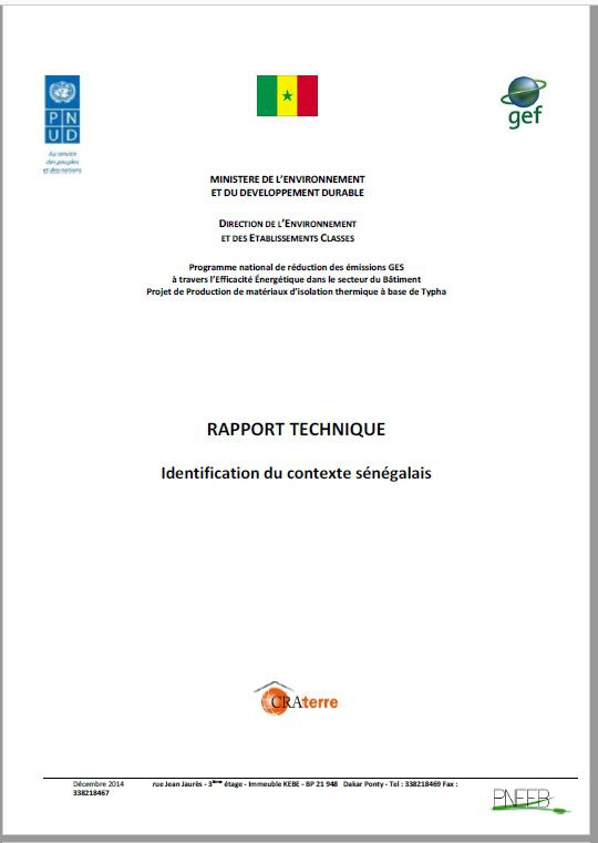 2014 - CRATERRE Typha_Terre Rapport technique
